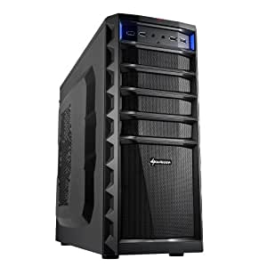 Sharkoon Technologies REX3 Eco Midi-Tower PC-Gehäuse (ATX, 3x 5,25 externe, 1x 3,25 externe, 4x 3,5 interne, 6x USB 2.0) schwarz