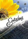 Einladungskarten Jugendweihe für Junge und Mädchen mit Innentext Motiv Sonnenblume 10 Klappkarten DIN A6 mit weißen Umschlägen im Set Jugendweihekarten Einladung Jugendweihe Mädchen Junge K198