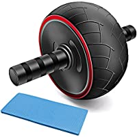 Feeyoo Ab Roller Exercise Wheel - Core Training Wheel Abs Abdominal Workout Machine with Knee Pad and Anti-Slip Handles for Man Women Home Gym Body Fitness
