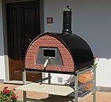 Four à pizza au feu de bois d'intérieur et d'extérieur. Pizza Party four à pizza 70x70 Gunmetal