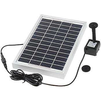 amur solar teichpumpe oasis 500 1 solar teichpumpen set 5 watt f garten teich max 500l h. Black Bedroom Furniture Sets. Home Design Ideas