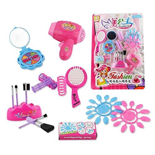Omiky® Kinder Mädchen vorgeben spielen Vanity Play Dresser Kosmetik Make-up Spielzeug (Rot)