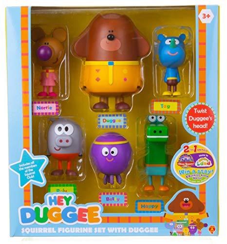Hey Duggee 1870R Figuren-Set, Mehrfarbig (Namens-tags Game-show)