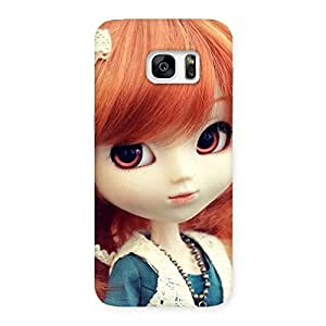 Special Tiny Baby Girl Multicolor Back Case Cover for Galaxy S7 Edge