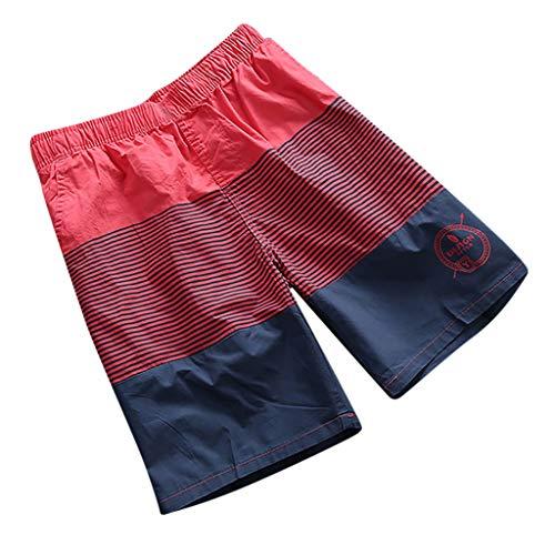 Herren Frühjahr und Sommer Spleißen Badehosen und Beach Surfing Shorts Design Spring and Summer Fashion Stitching Beach Shorts Rot Bule Weiß Orange XL XXL 3XL