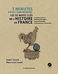 3 minutes pour comprendre les 50 dates clés de l'histoire de France par Franck Ferrand