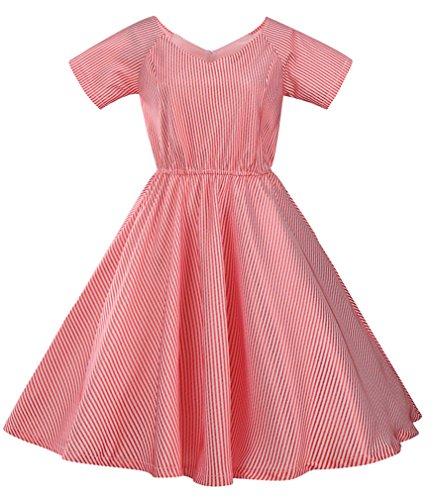 Eyekepper Robe de soiree coctail Robe courte Femme / demoiselle - robes style elegante vintage petite manche Rouge