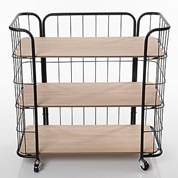 rollwagen 83cm schwarz h490 haushaltsregal allzweckregal rollregal metall k che. Black Bedroom Furniture Sets. Home Design Ideas