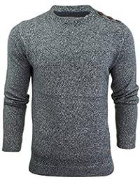 Pull à tricot plat et col à ras du cou par Brave Soul pour homme