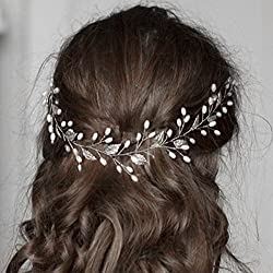 simsly Hochzeit Haar Reben mit Blätter Zubehör für Bräute und Brautjungfern