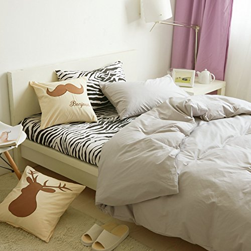 Duvet Cover & Pillowcase Set Bedding King Queen Bedding Bedroom Daybed,D Full -