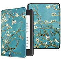 Fintie Slimshell Case for All-New Kindle Paperwhite (10th Generation, 2018 Release) - Premium Lightweight PU Leather Cover with Auto Sleep/Wake for Amazon Kindle Paperwhite E-Reader, Blossom