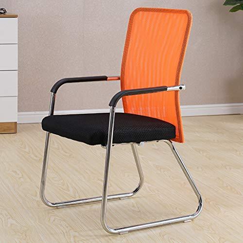 Chaises Surface du siège rembourrée à la mode Salle de réunion à l'arrière respirante Chaise de réception Chaise d'ordinateur de bureau (3 couleurs en option) Taille: 45 * 56 * 93cm (Couleur : C)