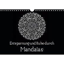 Entspannung und Ruhe durch Mandalas (Wandkalender 2019 DIN A4 quer): Mandalas zum Enspannen und Ausmalen (Monatskalender, 14 Seiten) (CALVENDO Kunst)