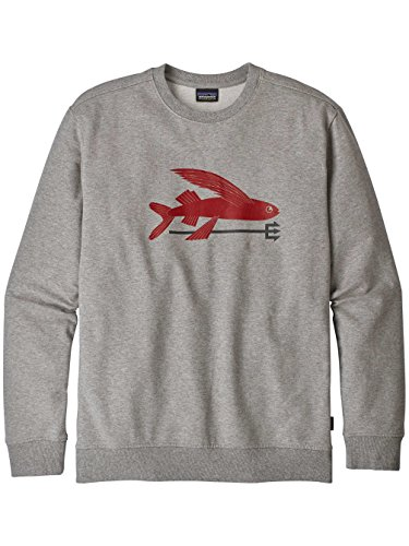 Herren Sweater Patagonia Flying Fish MW Crew Sweater (Crew Midweight Pullover)