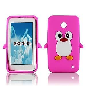 Thematys Coque de protection en Silicone pingouin pour Nokia Lumia 630/635 Rose