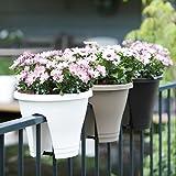 Vasi per piante, da balcone, per ringhiera – Ø 27 cm – Colori assortiti
