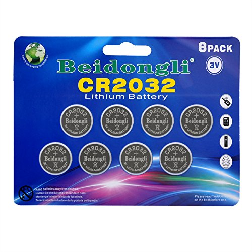 CR2032 3v lithium battery button coin cell battery for watches calculators led candles(8pack) Retail Blister Pack