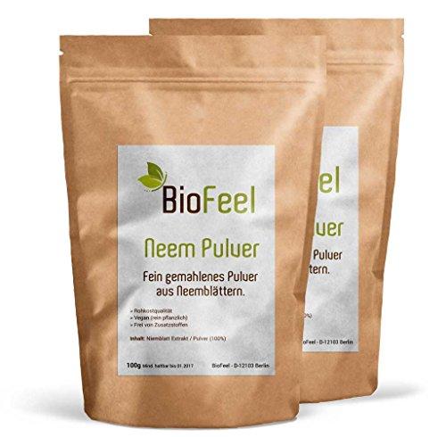BioFeel - Neem Pulver - 200g - 2er Pack (Niem) - BIO