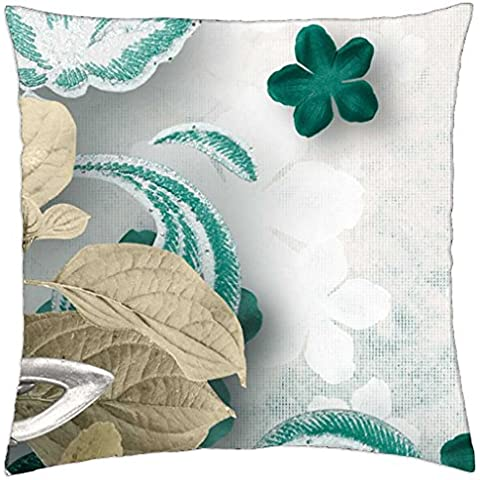 Flowers Abstract - Throw Pillow Cover Case (18