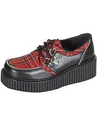 T.U.K. AV8991 Tuk Zapatos Rojo Metallic Lucido Unisex Creeper (37) kHrjH3