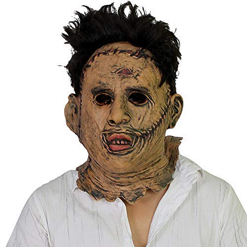 Chainsaw Massaker Leatherface Masken Beängstigend Cosplay Halloween Kostüm Gummi-Horror-Maske