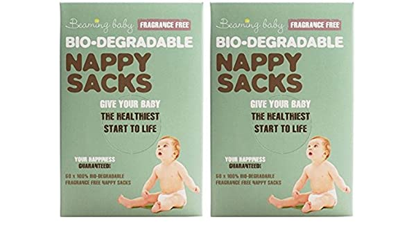 Beaming Baby Biodegradable Nappy Sacks Fragranced Case of 10