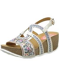 Desigual Bio9 Anissa White Flower, Heels Sandals para Mujer
