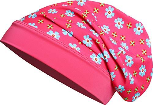 Playshoes Mädchen Mütze Beanie Blumen mit UV-Schutz L