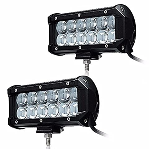 Ueannryer 2Pcs 6.5 36W LED Work Light Waterproof 9-32V 4x4 4WD car light,white