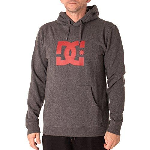 Fleece-screen-print Sweatshirt (DC Shoes Herren Screen Fleece STAR PH M OTLR grau, M)