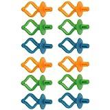 MagiDeal 12 Stück sortierte Bobbin Holders Clips Clamps Farbspulenhalter Klammern