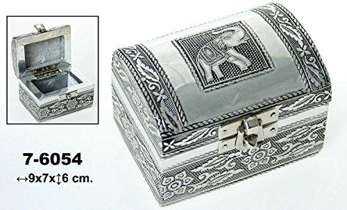 DonRegaloWeb-Caja-Set-de-2-joyeros-de-metal-con-forma-de-bal-con-cierre-decorado-con-elefante-y-flores-en-color-plateado