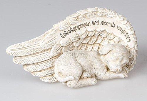 formano Gedenkstein Hund Grabschmuck Grabdeko mit Spruch, 18 cm