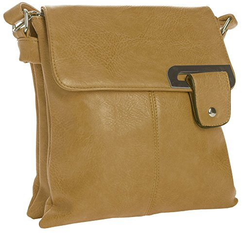 Big Handbag Shop - Borsa a tracolla donna Tan Light
