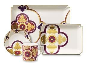 Villeroy & Boch Authentic Avantgarde Collection Service à expresso Rouge royal 4 pièces