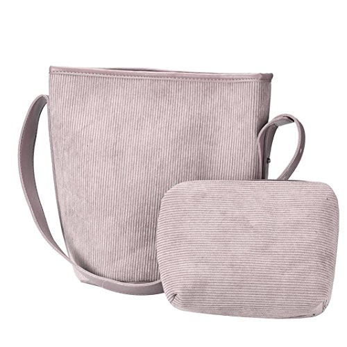 Koly_Nuove donne Bucket Bag in pelle a tracolla Grigio