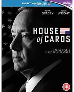 House Of Cards: Seasons 1-4 [Blu-ray] [Region Free]