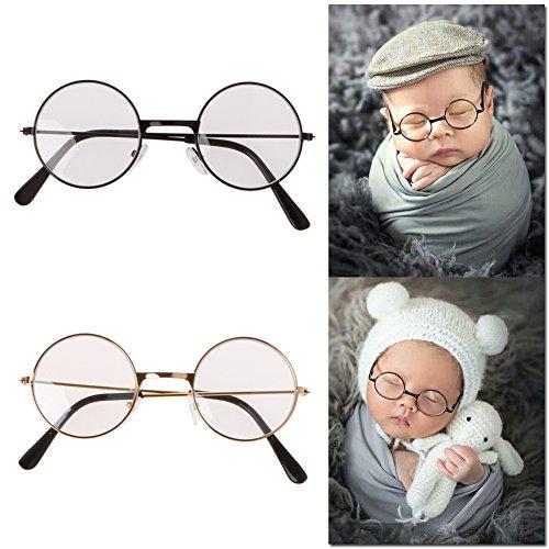 cuigu Sonnenbrille für Neugeborene für die Fotografie Props flach Klassische Brille Baby Shoot...