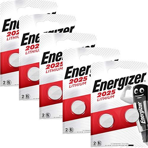 Energizer 637988SET - Pilas de botón, Litio CR2025, 3 V, 5 pack de 2 unidades