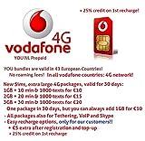 Vodafone Holland NL | 4G / LTE Europa Prepaid SIM | freie Roaming in: 31 Ländern (EU + EWR) | Tethering, VoIP, Skype erlaubt | 3 in 1 SIM Karte (€0 + 25% beim 1. Aufladung)
