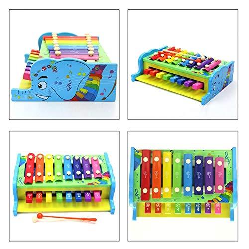 Rclhh Xylophone 8-Notes Clavier Instrument de Musique en Bois 2 en 1 frappant Xylophone Instruments pour la Petite enfance Img 4 Zoom