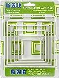PME PNS4 Lot de 6 Emporte Pièces Carrés, Plastique, Blanc, 12,6 x 1 x 12,6 cm