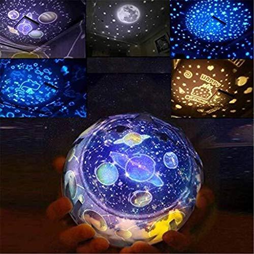 Nachtlichtgeschenk Der Sternprojektorkinder, Intelligentes Drehendes LED-Nachtlicht, Kreatives USB-Licht, Bluetooth 4.0 Kann Zeitgesteuert Sein, Weihnachten, Geburtstag Remote Charging