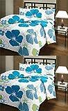 CarryWishiya Flower Prints Reversible Single Bed AC Blanket \ Dohar Combo Set Of 2 Pc