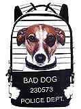 Panegy Fashion Kreativ Unisex 3D Tier Print Rucksack Hund - Schwarz & Weiß 48*31*15