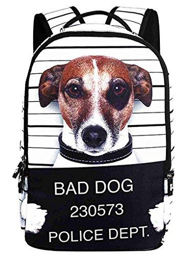 Imagen de panegy   estampada de animal 3d bolso escolar casual de viaje deporte unisex para hombres mujer chica chicos  perro