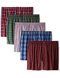 Boxer Men's Sports Cotton Shorts, Medium (Multicolour, boxerpack5__) - Set of 5