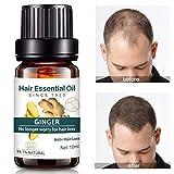 Ingwer Haarwuchs Ätherisches Öl, Haarausfall & Haar Ausdünnung Behandlung Haarpflege Serum für Männer & Frauen von Pretty Comy