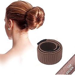 NALATI **Frühling Mode Frisur** Damen Fashion Haarstyling Tool Donut Hair Bun Maker & Fashion Haare Dutt Styling Werkzeug-Brautfrisur Brautschmuck Haarknoten Frisurenhilfe Haarzopf - Perfekt für lange und dicke Haare